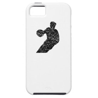 Distressed Basketball Player Silhouette iPhone 5 Covers