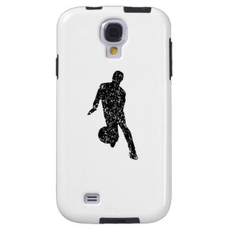Distressed Basketball Player Silhouette Galaxy S4 Case