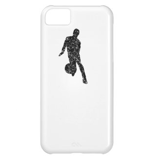 Distressed Basketball Player Silhouette Case For iPhone 5C