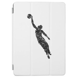 Distressed Basketball Player Silhouette iPad Air Cover