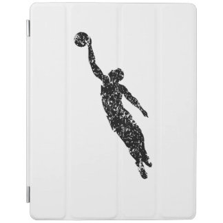 Distressed Basketball Player Silhouette iPad Cover