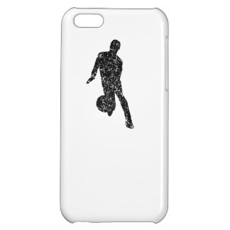 Distressed Basketball Player Silhouette iPhone 5C Cases