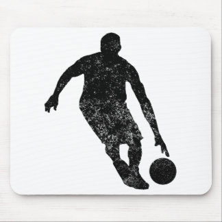 Distressed Basketball Player Silhouette Mousepads