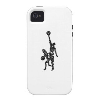 Distressed Basketball Players Case-Mate iPhone 4 Case