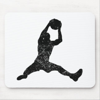 Distressed Basketball Rebound Silhouette Mousepad