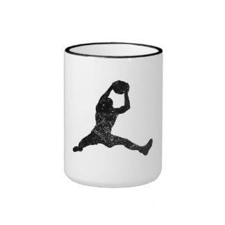 Distressed Basketball Rebound Silhouette Mug