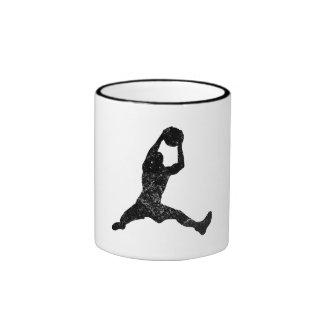 Distressed Basketball Rebound Silhouette Coffee Mugs