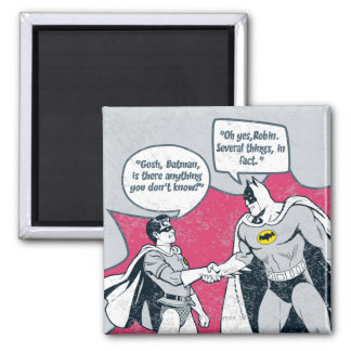 Distressed Batman And Robin Handshake 2 Inch Square Magnet