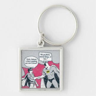 Distressed Batman And Robin Handshake Keychain