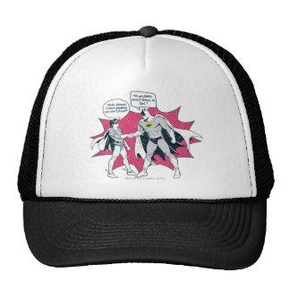 Distressed Batman And Robin Handshake Trucker Hat