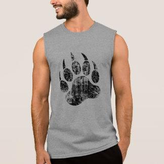Distressed Bear paw Sleeveless Shirt