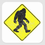 Distressed Bigfoot Crossing Stickers