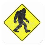 Distressed Bigfoot Crossing Stickers