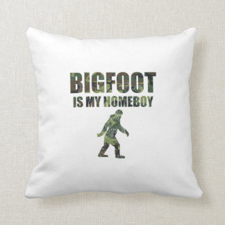 Distressed Bigfoot Is My Homeboy Camo Pillows