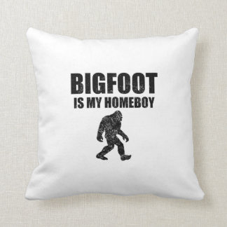 Distressed Bigfoot Is My Homeboy Throw Pillow