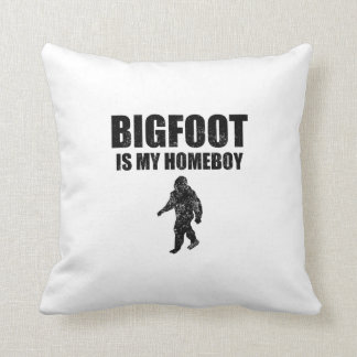 Distressed Bigfoot Is My Homeboy Throw Pillows