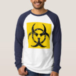 Distressed biohazard symbol tee shirt