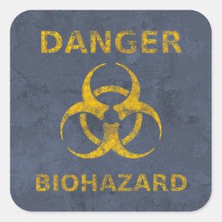 Distressed Biohazard Warning Sticker