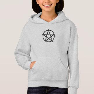 Distressed Black Pentagram - Pagan Symbol Hoodie