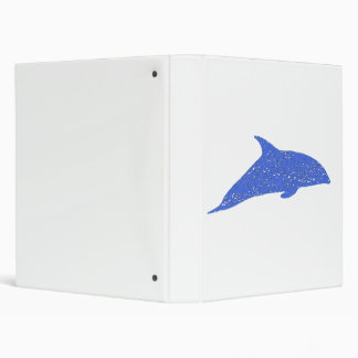 Distressed Blue Dolphin Vinyl Binders