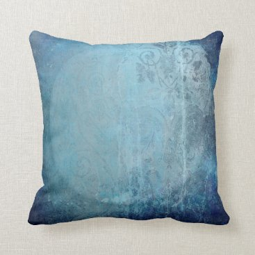 sterlingnights Distressed Blue Moon Throw Pillow