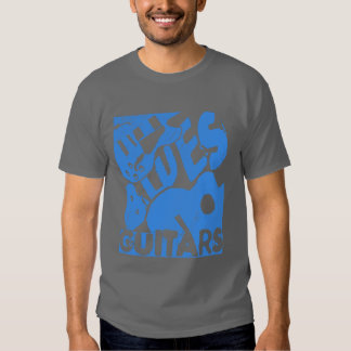 Distressed Blues Guitars in Blue T Shirt