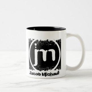 Distressed Border - 2-sided Ringer... - Customized Two-Tone Coffee Mug