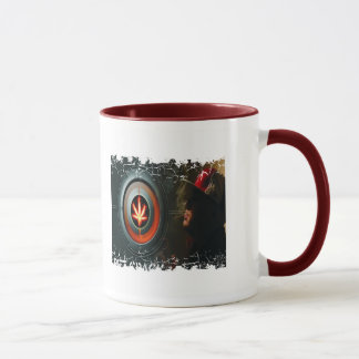 Distressed Border - 2-sided Ringer Mug