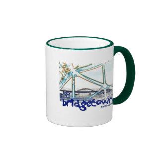 Distressed Border 2-sided Ringer Mug - Customized