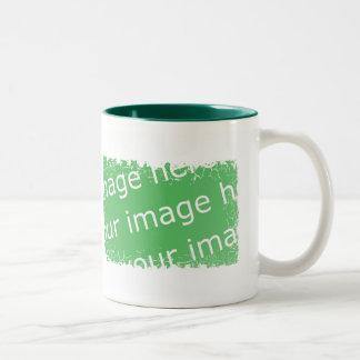 Distressed Border - 2-sided Two-Tone Coffee Mug