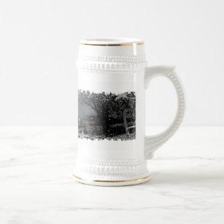 Distressed Border Stein Coffee Mugs