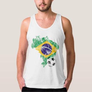 Distressed Brazil Soccer Tank