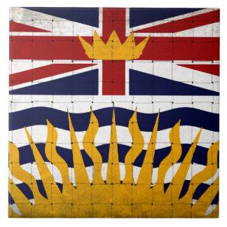 Distressed British Columbia Flag Ceramic Tile