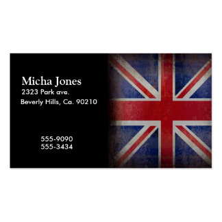 Distressed British Flag Business Card