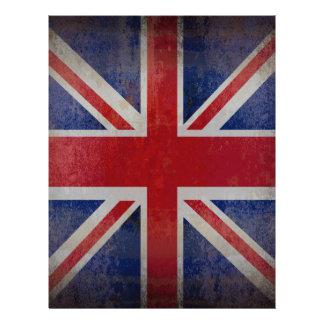 "Distressed British Flag 8.5"" X 11"" Flyer"