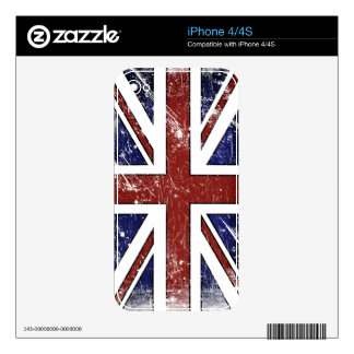 Distressed British Flag iPhone 4 Skin