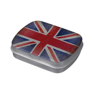 Distressed British Flag Jelly Belly Candy Tin