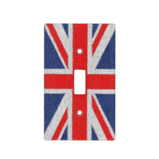 Distressed British Flag Light Switch Covers