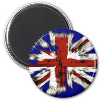 Distressed British Union Jack 2 Inch Round Magnet