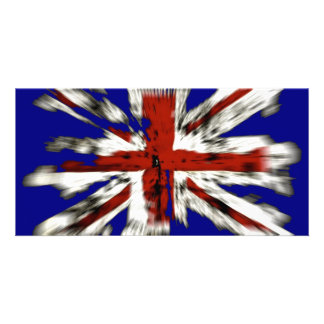Distressed British Union Jack Card