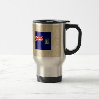 Distressed British Virgin Islands Flag 15 Oz Stainless Steel Travel Mug