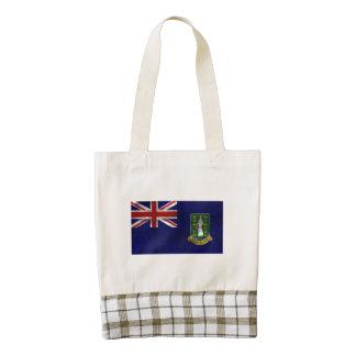 Distressed British Virgin Islands Flag Zazzle HEART Tote Bag