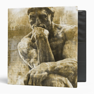 Distressed bronze statue Auguste Rodin the thinker Binder