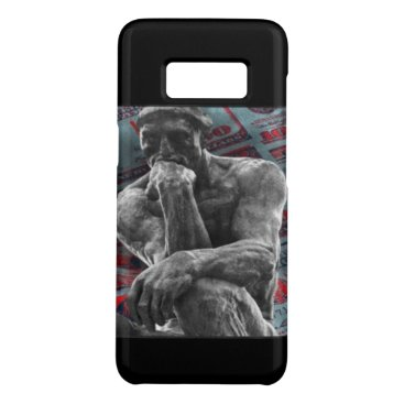 Beach Themed Distressed bronze statue Auguste Rodin the thinker Case-Mate Samsung Galaxy S8 Case