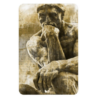 Distressed bronze statue Auguste Rodin the thinker Magnet