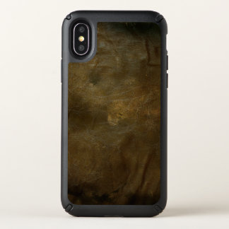 distressed brown leather design speck iPhone x case