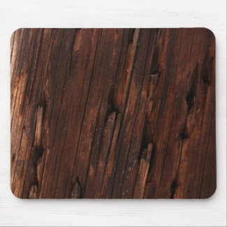 Distressed Brown Wood Bark Texturized Mouspad Mouse Pad