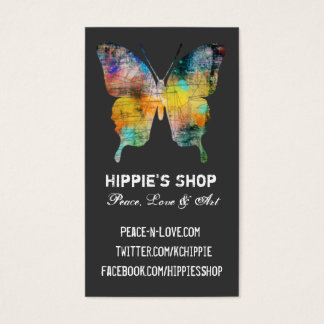 Distressed Butterfly Business Card