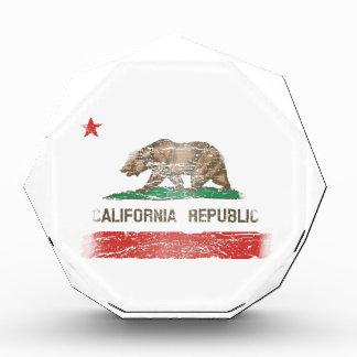 Distressed California Republic Flag Acrylic Award