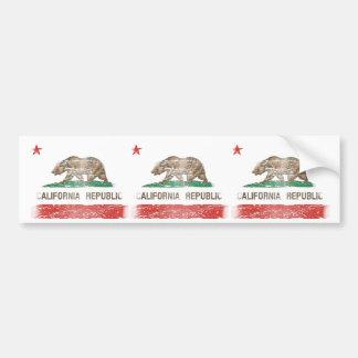Distressed California Republic Flag Bumper Stickers